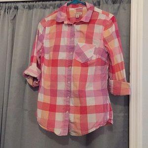 Plaid pink shirt